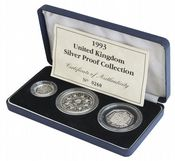 1993 3 x Coin Silver Proof Collection